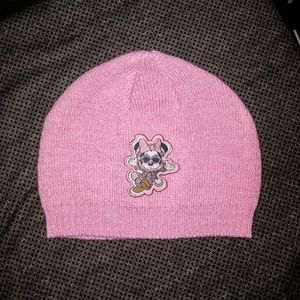 Disney-Minnie Mouse/Pink Knit Infant Girl Beanie